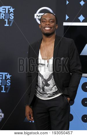 LOS ANGELES - JUN 25:  Woody McClain at the BET Awards 2017 at the Microsoft Theater on June 25, 2017 in Los Angeles, CA