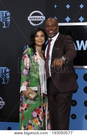 LOS ANGELES - JUN 25:  Vanessa Rodriguez Spencer, Chris Spencer at the BET Awards 2017 at the Microsoft Theater on June 25, 2017 in Los Angeles, CA