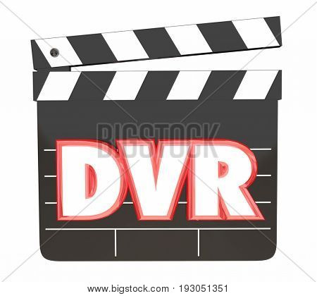 DVR Digital Video Recorder Save Movies Program Watching 3d Illustration