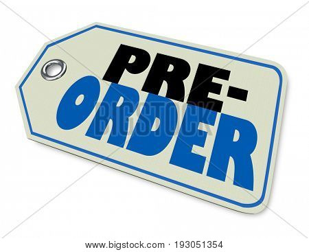 Pre-Order Buy Purchase Shopping Tag 3d Illustration