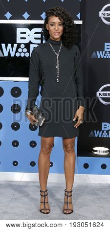 LOS ANGELES - JUN 25:  Annie Ilonzeh at the BET Awards 2017 at the Microsoft Theater on June 25, 2017 in Los Angeles, CA
