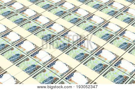 Nigerian nairas bills stacked background. 3D illustration.