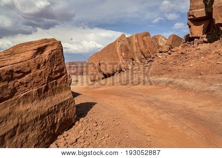 desert 4wd trail  in the Moab area, Utah (Chicken Corner Road)