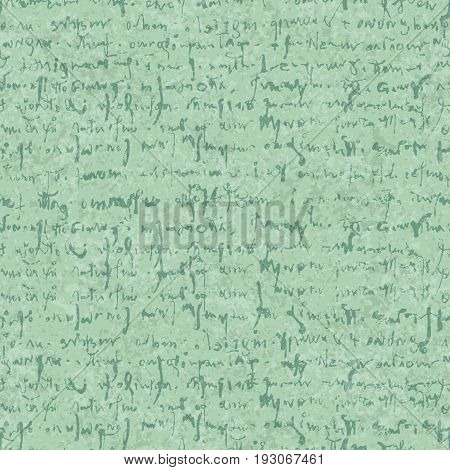 Old letter seamless pattern with textures and hand draw abstract lettering in retro style