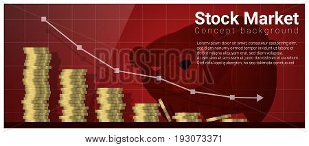 Business and Finance concept background with stock market , vector , illustration