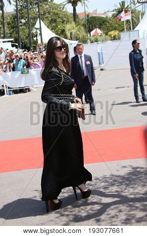 Monica Bellucci attends the 70th Anniversary photocall during the 70th annual Cannes Film Festival at Palais des Festivals on May 23, 2017 in Cannes, France.