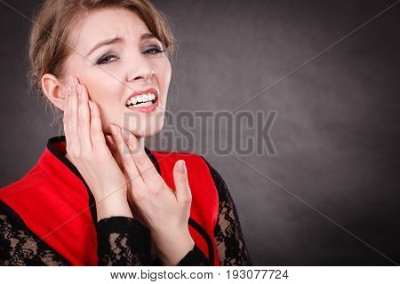 Negative Emotion. Woman Having Tooth Ache.