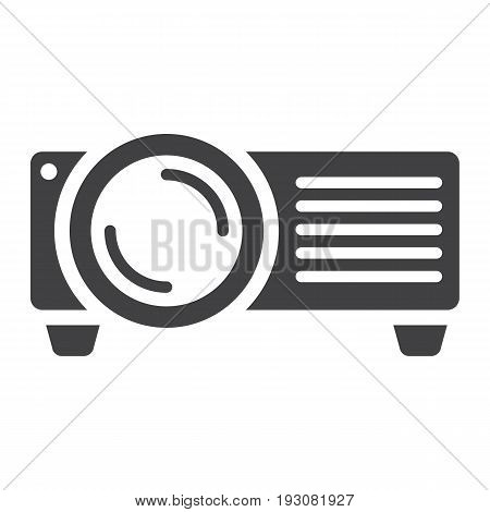 Projector solid icon, presentation and meeting, vector graphics, a glyph pattern on a white background, eps 10.