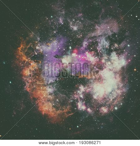 Abstract Galaxy In Deep Space. Astronomy Background.