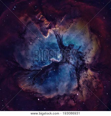 The Trifid Nebula Is An H Ii Region Located In Sagittarius.