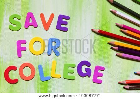 Colorful Letters, Save For College