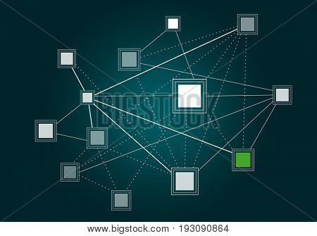 Networking and connection backdrop