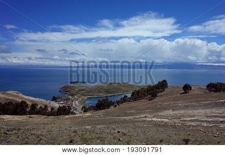 A Traditional Town On The Isla Del Sol On Lake Titicaca