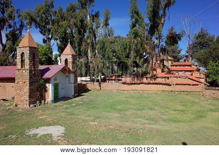 The Church At The Yumani Community On The Isla Del Sol On Lake Titicaca