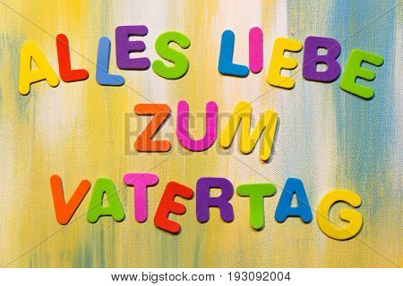Colorful Letters, German Text, Concept Father´s Day