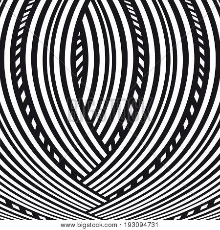 Abstract background. Black and white creative pattern