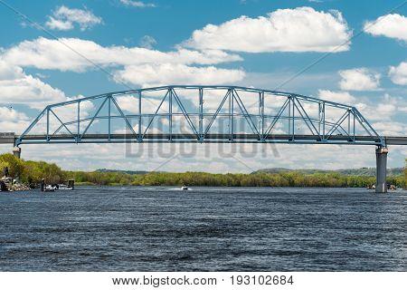 Wabasha-nelson Bridge Spans Mississippi River