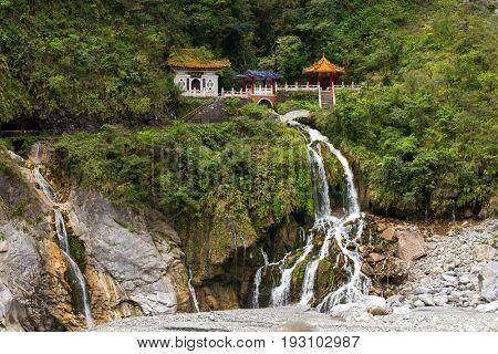 Eternal spring shrine scenery at the Taroko national park, Taiwan