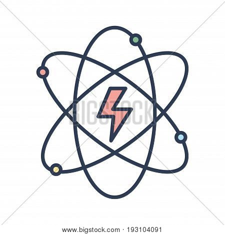 energy hazard symbol of power industry with orbits vector illustration