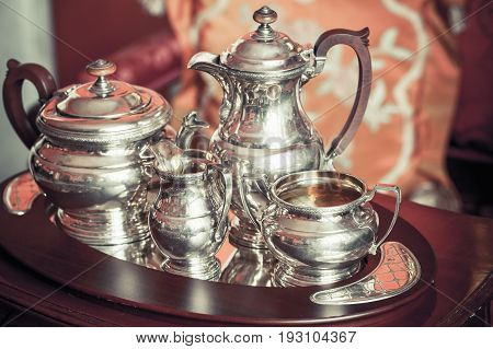 Vintage Luxury Silver Dishware