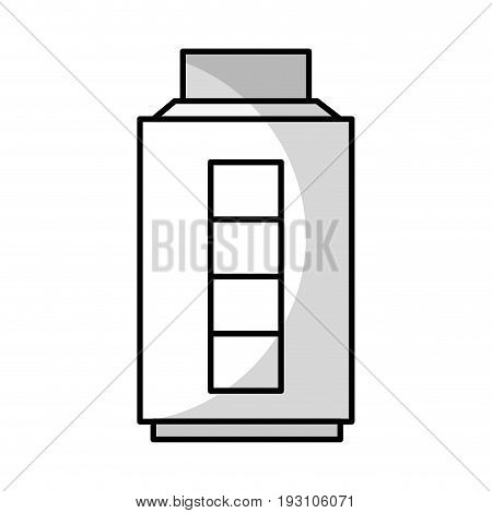 line baterry power energy with recharge capacity vector illustration