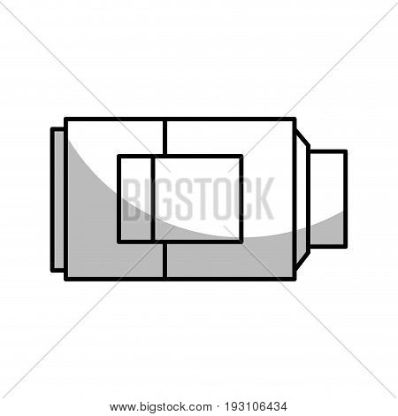line technology battery power low with digital indicador vector illustration