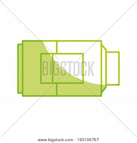 silhouette technology battery power low with digital indicador vector illustration