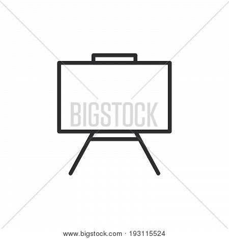 Whiteboard line icon outline vector sign linear style pictogram isolated on white. Dry erase board symbol logo illustration. Editable stroke. Pixel perfect graphics