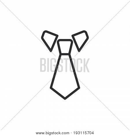 Tie line icon outline vector sign linear style pictogram isolated on white. Dress code symbol logo illustration. Editable stroke. Pixel perfect graphics