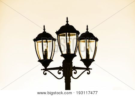 Standard Lamp On Street,old Lamp Street Lighting