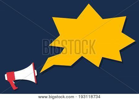 Megaphone icon cartoon style, marketing concept, vector illustration