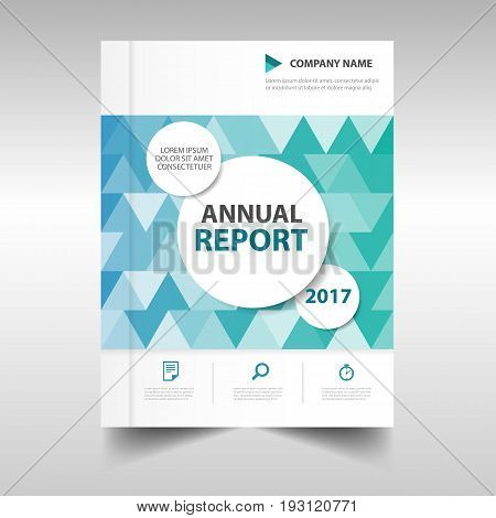 Green blue triangle annual report business Brochure Leaflet Flyer annual report template design book cover layout design abstract business presentation template a4 size design