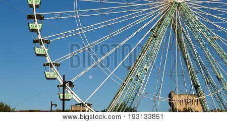 Ferris Wheel on the banks of the Rhone, Avignon, France