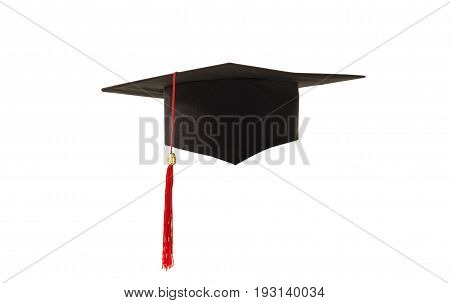 academic cap isolated on a white background
