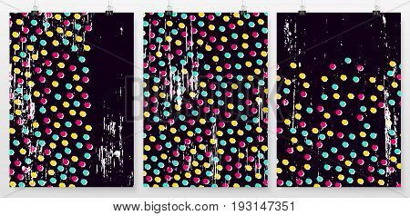 Poster Backgrounds Set Business Backdrops Collection Retro