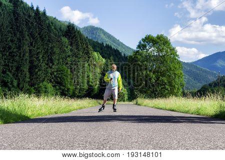 Man On Roller Skates
