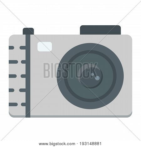 Camera flat icon, photo and capture, vector graphics, a colorful solid pattern on a white background, eps 10.