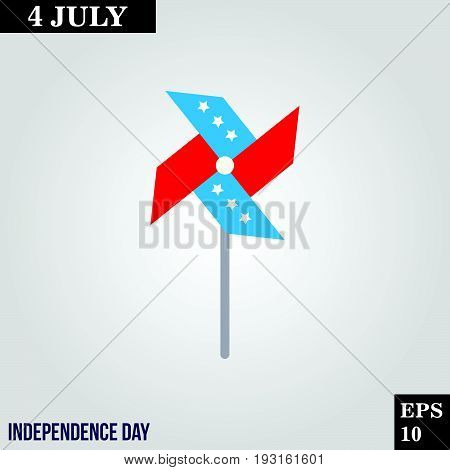 Pinwheel icon in trendy flat style isolated on grey background. Usa independence day symbol for your design, logo, UI. Vector illustration, EPS10.