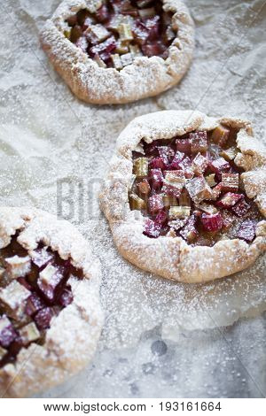 French galette made with rhubarb