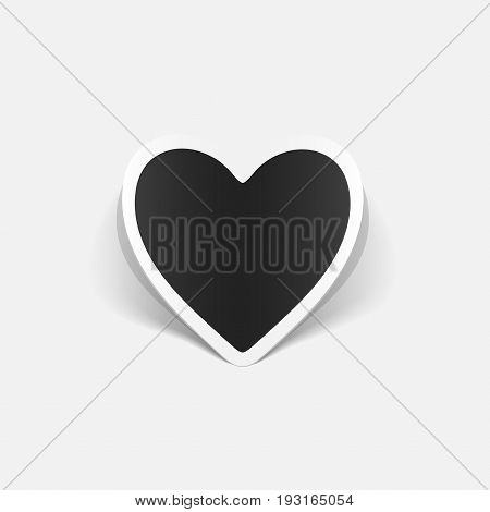It is a realistic design element: heart