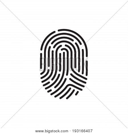 a black and white finger print image