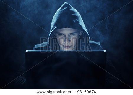 Hacker, hacking, program, programming, programmer, system code, computer, laptop.