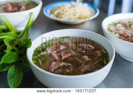 Pho Bo,vietnamese Soup With Beef