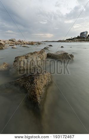 Creek of Morro Blanc in Campello Alicante province Spain.