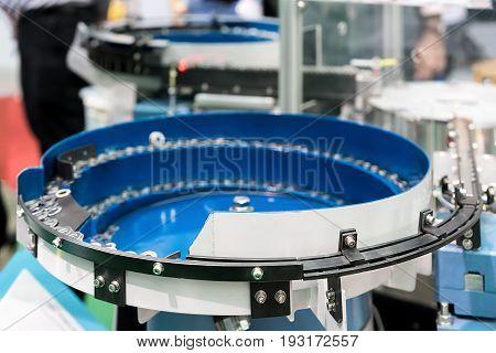 Muti material packing machine working in factory.