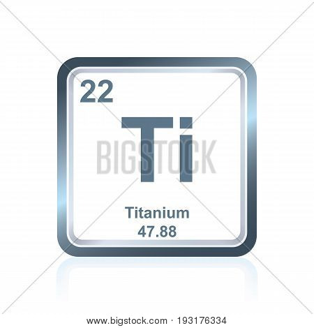 Chemical Element Titanium From The Periodic Table