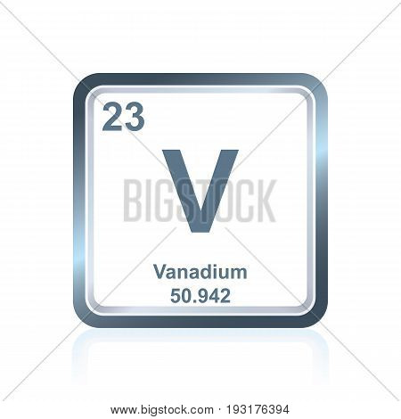 Chemical Element Vanadium From The Periodic Table