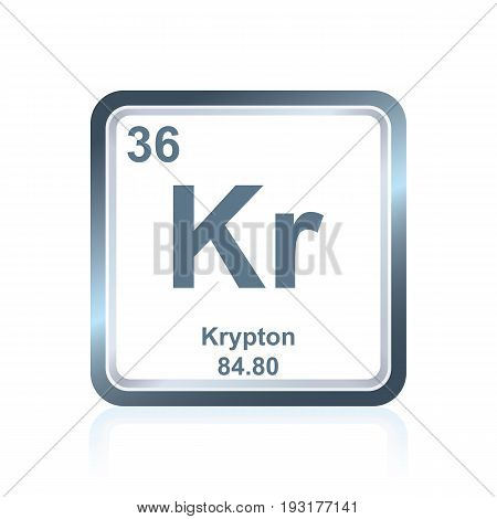 Chemical Element Krypton From The Periodic Table