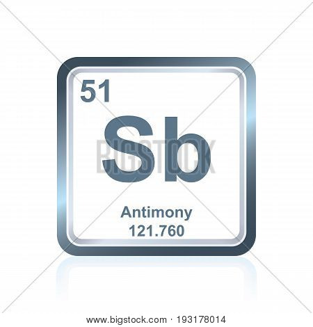 Chemical Element Antimony From The Periodic Table