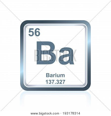 Chemical Element Barium From The Periodic Table
